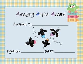 Amazing Artist Award Set