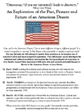An American Dream Personal Research Project and Presentation