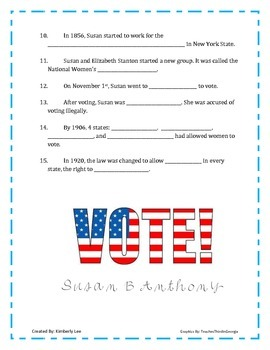 An American Hero-Susan B Anthony