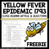 FREEBIE ... Yellow Fever Epidemic of 1793 (NonFiction Supplement for Fever 1793)