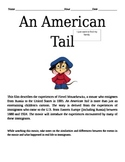 An American Tail - An Immigrants Experience