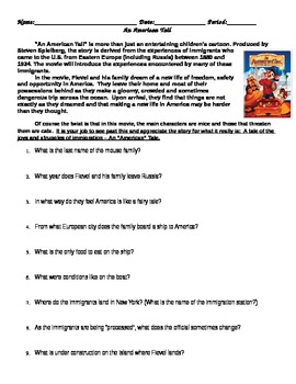 An American Tail Video Sheet