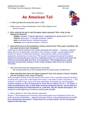 """""""An American Tail"""" movie study guide & Answer Key"""