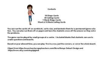 Analogy Practice-Bingo Game Fun-Grades 6-8