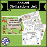 An Ancient Civilization Unit Rome Greece Mali Egypt Rome