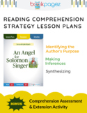 An Angel for Solomon Singer Comprehension Strategy Lesson Plans