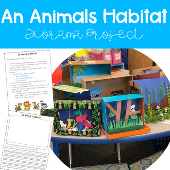 Animal Diorama Project & Worksheets | Teachers Pay Teachers