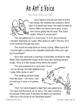 An Ant's Voice (An East African Tale)