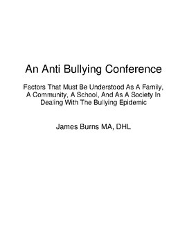 An Anti Bullying Conference