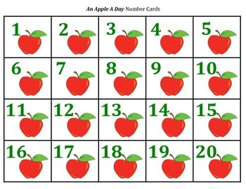 An Apple A Day - A 2-Player Game to Compare Numbers to 20