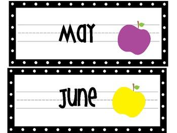 An Apple A Day Calendar Toppers