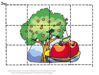 Johnny Appleseed Printable Puzzles for Centers or Stations Craftivity