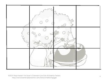 Johnny Appleseed Printable Cut Paste Puzzles P-K,K, Special Education Fine Motor