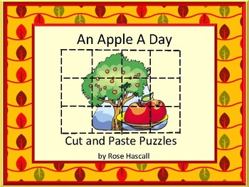 Johnny Appleseed Printable Puzzles for Centers or Stations