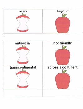 An Apple A Day: Getting to the Core of Prefixes and Suffixes