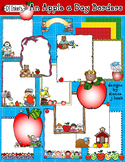 An Apple a Day Clip Art Borders Download - Distance Learning