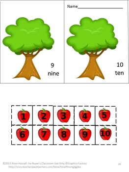 Johnny Appleseed Cut and Paste Activities Special Education Preschool