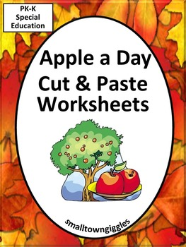 Apples Johnny Appleseed Cut Paste Fine Motor Activities Special Education