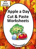 Apples Johnny Appleseed Cut Paste Fine Motor Activities Sp