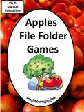 Apples File Folder Games Special Education Kindergarten Johnny Appleseed