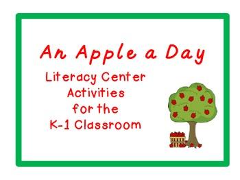 An Apple a Day Literacy Center Activities