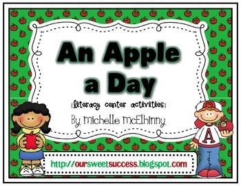 An Apple a Day {Literacy Center Activities}