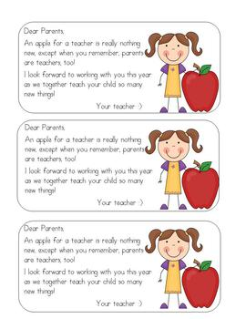 An Apple for Parents at Open House/Orientation