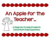 An Apple for the Teacher: A Diagram for Solving Multi-Step