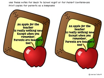 An Apple for the Teacher Poem