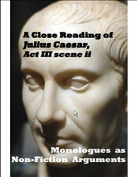 "An Argument Analysis of Julius Caesar Act 3 Scene 2 - ""Friends, Romans..."""