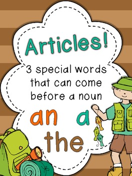 An Article Adventure: {a, an, the} Activities, Posters, and Printables