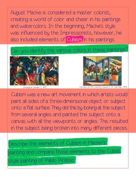 An Artist Lesson/Book About August Macke