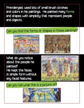 An Artist Book on Maurice Prendergast and Maurice Prendergast Painting Lesson