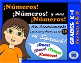 An Assessment: Counting from 11 to 20 in Spanish!