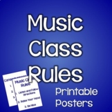 Classroom Management for Art, Music, and PE Teachers~Music Class Rules Posters
