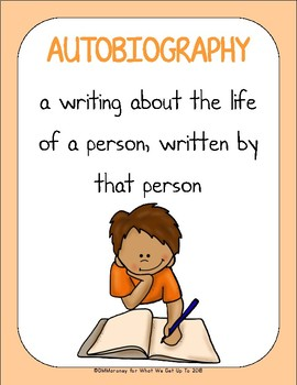 An Autobiography Writing Unit for 3-5th Grade