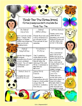Differentiated Instruction-Common Core Aligned Choice Boards and Extension Menus