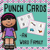 CVC Word Family Punch Activity: An Words