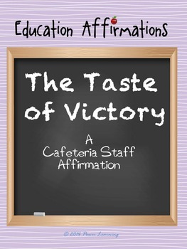 A Cafeteria Staff Affirmation (Professional Development)