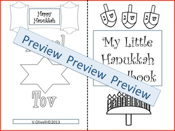 Hanukkah -Poem/Activities Early Primary and ELL Newcomers