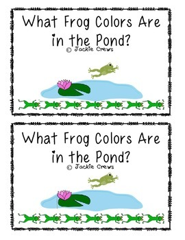 An Emergent Math Reader: What Frog Colors Are in the Pond?