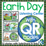 An Earth Day Listening Center with SafeShare.tv QR Codes a