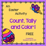 Free Easter Count, Tally and Color: English and French