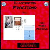Illustrating Fractions - Book 1 - Drawing Math Models like 3/7, 4/5, and 8/9