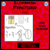 Illustrating Fractions - Book 2: (ie: 5/6 + 4/6) (Distance