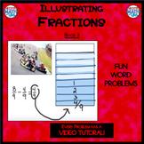 Illustrating Fractions - Book 3: Subtracting Like Denominators (5/6 - 4/6)