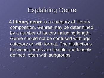 An Easy Way to Understand Genre