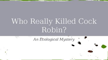 An Ecological Mystery Novel Study