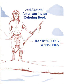 Native American Indian Coloring Book with Handwriting Activities