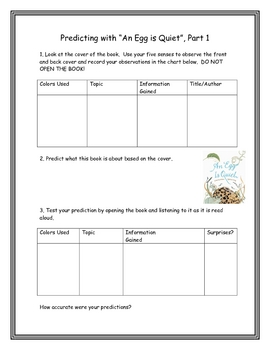 An Egg is Quiet: Science Process Skills and Projects for the Book